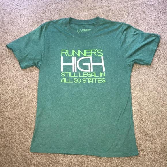 ca015a6e Small Green Saucony Workout Shirt